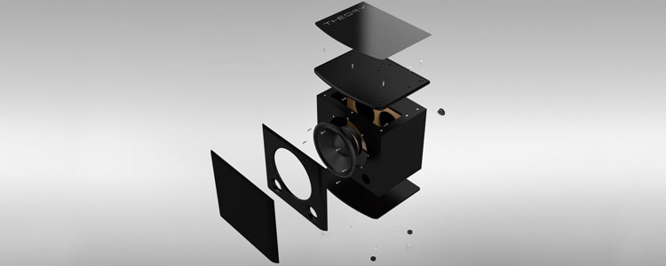 Theory Audio Design Subwoofer exploded